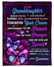 "BL10063 - Granddaughter Butterfly Night Grandma Small Fleece Blanket - 30"" x 40"" front"