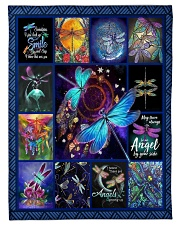 """FBC10043 - Dragonfly Just Look Up Smile Small Fleece Blanket - 30"""" x 40"""" front"""