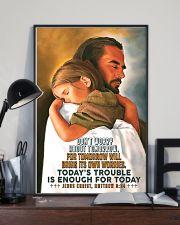 JES10007PT - Jesus Christ Don't Worry Tomorrow 16x24 Poster lifestyle-poster-2