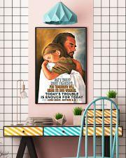 JES10007PT - Jesus Christ Don't Worry Tomorrow 16x24 Poster lifestyle-poster-6
