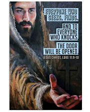 JES10025PT - Jesus Christ Everyone Who Seeks 11x17 Poster front