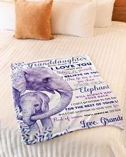 "BL10004 - Beloved Granddaughter Elephant 2 Small Fleece Blanket - 30"" x 40"" aos-coral-fleece-blanket-30x40-lifestyle-front-01"