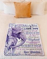 "BL10004 - Beloved Granddaughter Elephant 2 Small Fleece Blanket - 30"" x 40"" aos-coral-fleece-blanket-30x40-lifestyle-front-04"