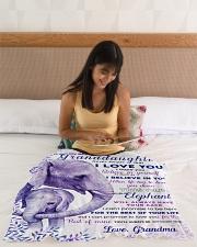 "BL10004 - Beloved Granddaughter Elephant 2 Small Fleece Blanket - 30"" x 40"" aos-coral-fleece-blanket-30x40-lifestyle-front-12"