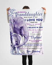 "BL10004 - Beloved Granddaughter Elephant 2 Small Fleece Blanket - 30"" x 40"" aos-coral-fleece-blanket-30x40-lifestyle-front-14"