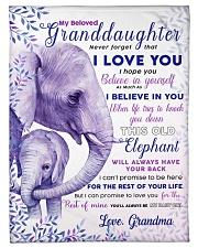 "BL10004 - Beloved Granddaughter Elephant 2 Small Fleece Blanket - 30"" x 40"" front"