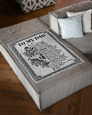 """FBC10039 - Son To Dad Wolf Small Fleece Blanket - 30"""" x 40"""" aos-coral-fleece-blanket-30x40-lifestyle-front-03"""