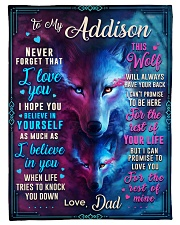 """BL10056N - To My Addison Dad Letter Small Fleece Blanket - 30"""" x 40"""" front"""
