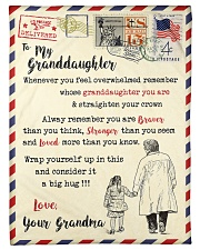 """FBL10063 To My Granddaughter Letter Family Small Fleece Blanket - 30"""" x 40"""" front"""