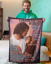 """JES10055BL -  A Prayer For Daughter Small Fleece Blanket - 30"""" x 40"""" aos-coral-fleece-blanket-30x40-lifestyle-front-09"""