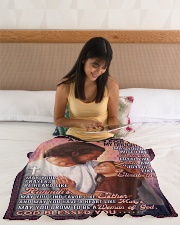 """JES10055BL -  A Prayer For Daughter Small Fleece Blanket - 30"""" x 40"""" aos-coral-fleece-blanket-30x40-lifestyle-front-12"""