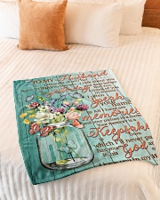 """FAM10126BL - I Have You In My Heart Small Fleece Blanket - 30"""" x 40"""" aos-coral-fleece-blanket-30x40-lifestyle-front-01"""