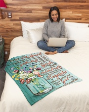 """FAM10126BL - I Have You In My Heart Small Fleece Blanket - 30"""" x 40"""" aos-coral-fleece-blanket-30x40-lifestyle-front-08"""