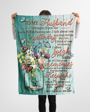 """FAM10126BL - I Have You In My Heart Small Fleece Blanket - 30"""" x 40"""" aos-coral-fleece-blanket-30x40-lifestyle-front-14"""
