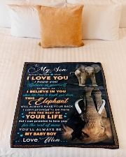 """BL10075 - To My Son Elephant Mom Letter Small Fleece Blanket - 30"""" x 40"""" aos-coral-fleece-blanket-30x40-lifestyle-front-04"""