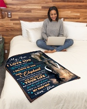 """BL10075 - To My Son Elephant Mom Letter Small Fleece Blanket - 30"""" x 40"""" aos-coral-fleece-blanket-30x40-lifestyle-front-08"""