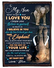 """BL10075 - To My Son Elephant Mom Letter Small Fleece Blanket - 30"""" x 40"""" front"""