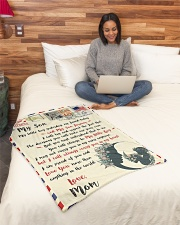 """FBL10072 To My Son Mom Letter Family Small Fleece Blanket - 30"""" x 40"""" aos-coral-fleece-blanket-30x40-lifestyle-front-08"""