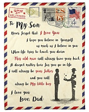 """FBL10013 - To My Son With Love Dad Letter Family  Small Fleece Blanket - 30"""" x 40"""" front"""