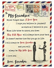 """FBL10053 To My Grandson Letter Family Small Fleece Blanket - 30"""" x 40"""" front"""