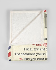 """FBL10073B To Daniel Mom Letter Family Small Fleece Blanket - 30"""" x 40"""" aos-coral-fleece-blanket-30x40-lifestyle-front-17"""
