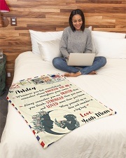 """FBL10021B To Ashley Love Mom Letter Family Small Fleece Blanket - 30"""" x 40"""" aos-coral-fleece-blanket-30x40-lifestyle-front-08"""