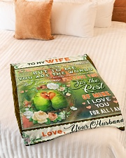 """BL10084 - To My Wife You Are The World Small Fleece Blanket - 30"""" x 40"""" aos-coral-fleece-blanket-30x40-lifestyle-front-01"""