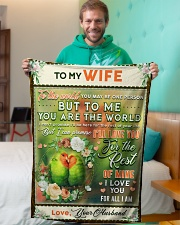 """BL10084 - To My Wife You Are The World Small Fleece Blanket - 30"""" x 40"""" aos-coral-fleece-blanket-30x40-lifestyle-front-09"""