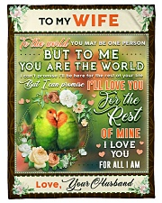 """BL10084 - To My Wife You Are The World Small Fleece Blanket - 30"""" x 40"""" front"""
