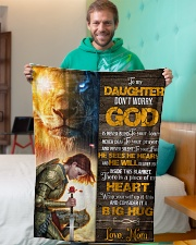 """Jes10088 - God Is Never Blind To Your Tears Small Fleece Blanket - 30"""" x 40"""" aos-coral-fleece-blanket-30x40-lifestyle-front-09"""