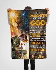"""Jes10088 - God Is Never Blind To Your Tears Small Fleece Blanket - 30"""" x 40"""" aos-coral-fleece-blanket-30x40-lifestyle-front-14"""
