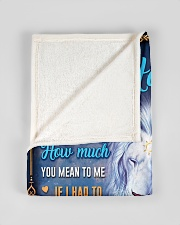 """BL10048N - To My Hannah Dad Letter Lion Small Fleece Blanket - 30"""" x 40"""" aos-coral-fleece-blanket-30x40-lifestyle-front-17"""