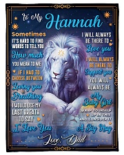 """BL10048N - To My Hannah Dad Letter Lion Small Fleece Blanket - 30"""" x 40"""" front"""