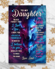 CV10023 - To My Daughter Dad Letter Wolf 11x17 Poster aos-poster-portrait-11x17-lifestyle-25