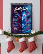 CV10023 - To My Daughter Dad Letter Wolf 11x17 Poster lifestyle-holiday-poster-4