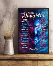 CV10023 - To My Daughter Dad Letter Wolf 11x17 Poster lifestyle-poster-3