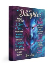 CV10023 - To My Daughter Dad Letter Wolf Gallery Wrapped Canvas Prints tile