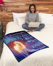 "BL10079 - To Granddaughter Love Grandma Unicorn Small Fleece Blanket - 30"" x 40"" aos-coral-fleece-blanket-30x40-lifestyle-front-08"