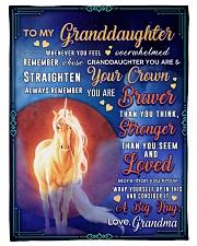 "BL10079 - To Granddaughter Love Grandma Unicorn Small Fleece Blanket - 30"" x 40"" front"