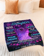 """BL10106 - To My Daughter Night Galaxy Love Mom Small Fleece Blanket - 30"""" x 40"""" aos-coral-fleece-blanket-30x40-lifestyle-front-01"""