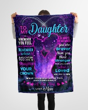 """BL10106 - To My Daughter Night Galaxy Love Mom Small Fleece Blanket - 30"""" x 40"""" aos-coral-fleece-blanket-30x40-lifestyle-front-14"""