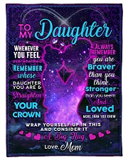 """BL10106 - To My Daughter Night Galaxy Love Mom Small Fleece Blanket - 30"""" x 40"""" front"""