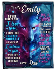 """BL10056N - To My Emily Dad Letter Small Fleece Blanket - 30"""" x 40"""" front"""