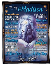 """BL10048N - To My Madison Dad Letter Lion Small Fleece Blanket - 30"""" x 40"""" front"""