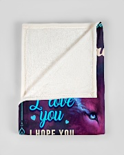 """BL10056P - To My Daughter Wolf Dad - Personalized Small Fleece Blanket - 30"""" x 40"""" aos-coral-fleece-blanket-30x40-lifestyle-front-17"""
