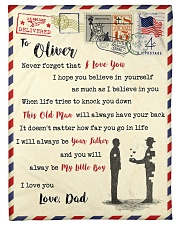 """FBL10013H - To Oliver Dad Letter Family Small Fleece Blanket - 30"""" x 40"""" front"""
