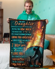 """BL10051 - To My Daughter Dad With Love Small Fleece Blanket - 30"""" x 40"""" aos-coral-fleece-blanket-30x40-lifestyle-front-09"""