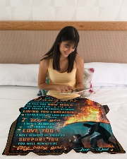 """BL10051 - To My Daughter Dad With Love Small Fleece Blanket - 30"""" x 40"""" aos-coral-fleece-blanket-30x40-lifestyle-front-12"""