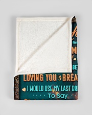 """BL10051 - To My Daughter Dad With Love Small Fleece Blanket - 30"""" x 40"""" aos-coral-fleece-blanket-30x40-lifestyle-front-17"""