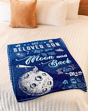 """BL10040 - To My Son Love You To The Moon Small Fleece Blanket - 30"""" x 40"""" aos-coral-fleece-blanket-30x40-lifestyle-front-01"""